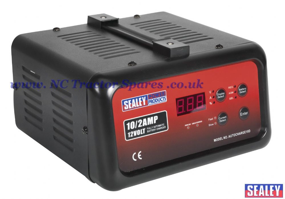Battery Charger Electronic Digital 10Amp 12V 230V